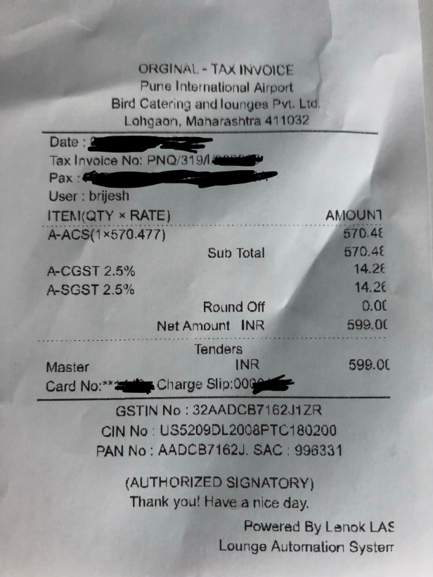 entry fee price charges bird lounge pune airport pnq review