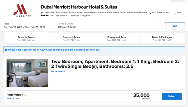 dubai marriott harbour hotels suites uae