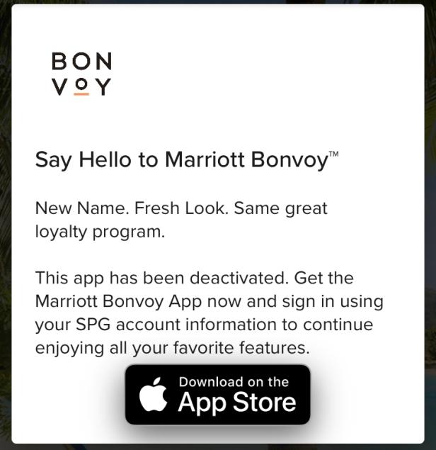 spa app retired marriott bonvoy